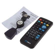 USB Media IR Wireless Mouse Remote Control Controller USB Receiver For Laptop PC Computer Center Windows Xp Vista free shipping