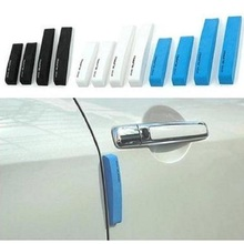 4PCS Car Styling Door Sill Guard Car SUV Body Rear Bumper Protector Trim Cover Protective Strip Black blue white(China)