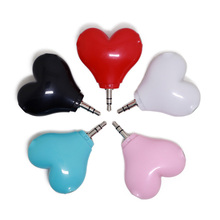 SOROPIN 3.5mm Headphone Splitter Red Heart Lover Y Aux Plug Couples Audio Earphones Adapter For iPhone Xiaomi Computer Android