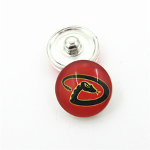 20pcs/lot MLB Team Arizona Diamondbacks Snap Button Charms DIY 18mm Baseball Sports Ginger Snaps Bracelets Necklace Jewelry