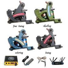 Professional New Style Tattoo Machine Guns Tattoo Kit Sets Mini Power Supplies(China)