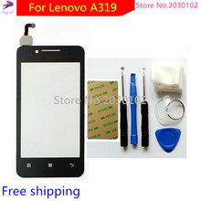 Free DIY Tools + 100% New Touch Screen For Lenovo A319 Glass Capacitive sensor For Lenovo A319 Touch Screen panel Black
