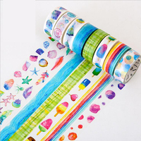Colored Creative DIY Washi Tape Notebook Diary Decorative Tapes 15mm*8m Beautiful Adhesive Delicate Washi Tapes