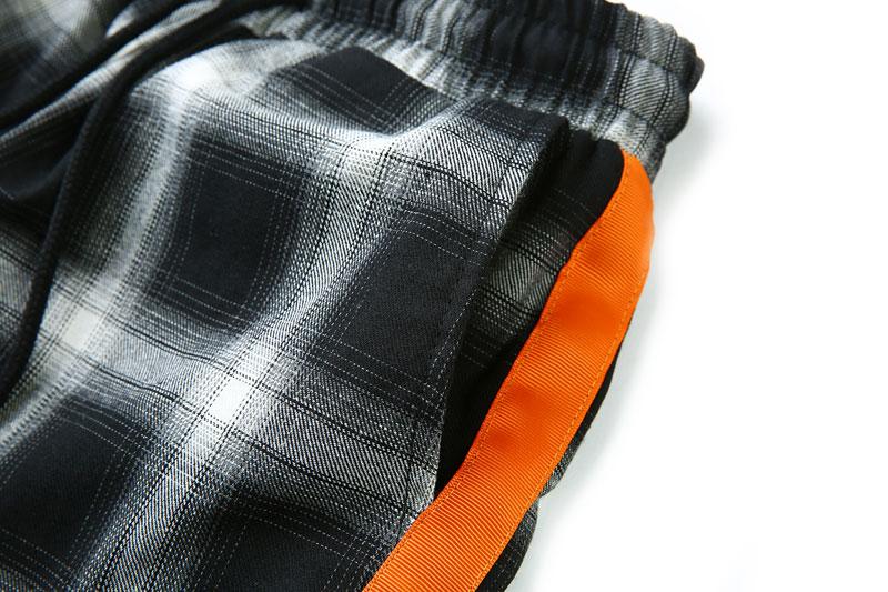 Side Ribbon Plaid Pants 11