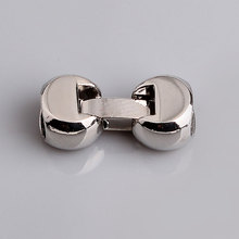 Free Shipping Unique Charm Jewelry Connectors Copper Metal End Caps Lock Clasps For Leather Bracelets PMC-S002(China)