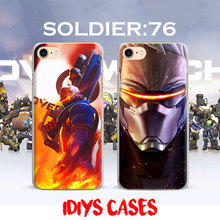 Ow Games Heroes SOLDIER 76 HANZO GENJI D.va REAPER Phone Case Cover Shell For Apple iPhone 7PLUS 7 6SPLUS 6S 6PLUS 6 5 5S SE 4S