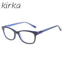 Kirka Child Type Glasses frame fashion Acetate Blue High quality Spectacle Frames for Studying and Watching(China)