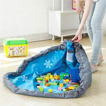 Portable Kids Toy Storage Bag And Play Mat Lego Toys Organizer Bin Box Baby Fashion Practical Storage Bags IC880524