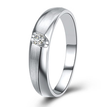 Luxury Jewelry GVBORI 0.06 carat Natural Diamond  18K White Gold Couple's Rings Women Ring Fashion Style Special Gift For Lover