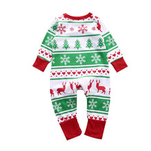 Baby Boy Girl Romper Clothes Kids Christmas Design Long Sleeve One Pieces Sunsuit Outfit Clothes Bebe Ropa For 70-100cm(China)