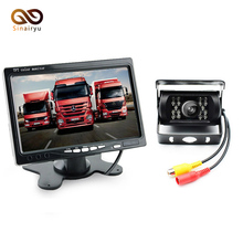 "DC 12V~24V Truck Bus Parking Monitor Camera System, 7"" Car Monitor With Rear View Camera 10M RCA Video Cable"