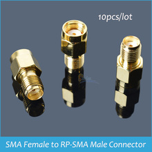 Sindax SMA Gold plated RF Connectors  SMA Female to RP-SMA Male Coxial RF Connector 10pcs/pack