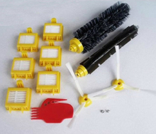 New Bristle & Flexible Beater Brush & Hepa Filter & Side Brush & Clean Tool kit for iRobot Roomba 700 Series 770 780 790