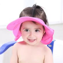 New adjustable Infant Baby Shower Cap Silicone Shampoo Ear Protection Cap Kids Bath Visor Hat Hair Wash Shield
