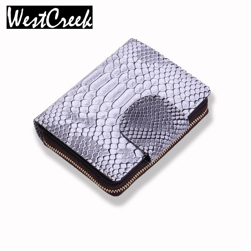 Serpentine Genuine Leather with  Artificial leather Zipper Women Small Wallets Ladies Short Purse Portefeuille Femme Carteira<br><br>Aliexpress