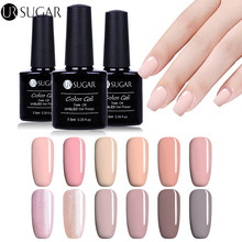 UR SUGAR Nude Color UV Gel Polish 7.5ml Soak Off UV led Gel Varnish Red Pure Color Nail Gel Polish Paint Gel Lacquer LED Design(China)