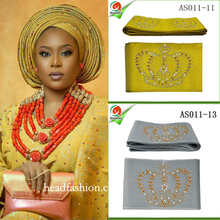 AS013 Perfect quality beauty women headtie Multi-colored African ASO OKE headtie gele 8.6m length wrapper scarf african headtie.(China)