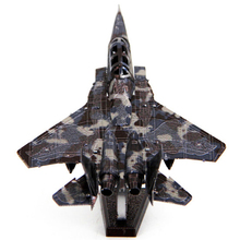 Colorful F15 Eagle Fighter Airplane Fun 3D Metal DIY Miniature Model Kits Puzzle Toys Children Educational Boy Splicing Hobby