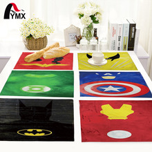 American Style Cartoon Table Mat Bowl Dining Mats Table Napkin For Wedding Set Kitchen Decoration Table Pads Home Accessories