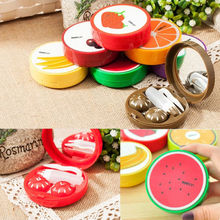 Portable Travel Cute Fruit Shape Contact Lens Case Box Kit Holder Container Set