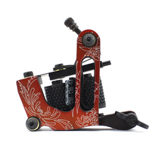 10Pcs/lot Pro Casting Iron Tattoo Machine 10 Wraps coil stainless steel Tattoos Body Art Gun Coil Machine LPC-ITM-7055-4D