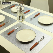 High Quality Rectangle PVC Placemat Hotel Dining Table Bar Waterproof Insulation Non-SlipMats Plate Coffee Pads Table Decoration