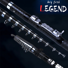 Casting Rod Carbon Fiber Superhard Telescopic Fishing Rod for Sea Fishing Big Fish 2.1m 2.4m 2.7m 3.0m 3.6m Fishing Equipment