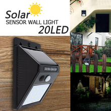 20 LED Waterproof LED Solar Power PIR Motion Sensor Wall Light Outdoor Energy Saving Street Yard Path Home Garden Security Lamp