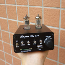 HOT sale 2017 tube mini amplifier 6J1 headphone tube preamplifier HiFi Bluetooth MP3 Player lossless APE FLAC Tube amp(China)
