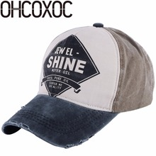 OHCOXOC wholesale women men casual cap hat print letter design cotton material soft hip hop girl boy outdoor baseball caps(China)