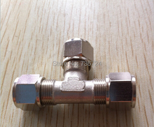 12mm  pneumatic pipe joint fittings ,nickel plated brass pneumatic fittings union tee