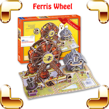 New Summer Gift Ferris Wheel 3D Model Building Puzzle Creative Logical Toy Family DIY Handwork PCS Imagination Training(China)
