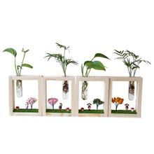 Micro Landscape Test Tube Vase Flower Pots For Wedding Home Garden Decor Pot Holder Decor(China)