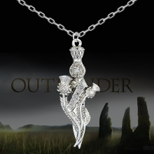 The outlander sassenach with Sword  Pendant Necklace  XL618
