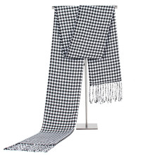 2017New Men Gentleman Classic Houndstooth Scarves Boys Male Fashion Black White Autumn Winter Warm Scarf Shawl Wrap Neckerchief(China)