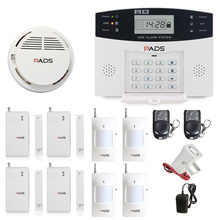 99 Wireless Zone Russian GSM Fire Alarm System LCD Display Voice Intercom Auto Dial And SMS Home Security Burglar Alarm System