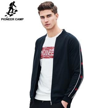 Pioneer Camp 2017 New Arrival zipper hoodies men brand-clothing fashion hoodies jacket quality casual sweatshirt male tracksuit
