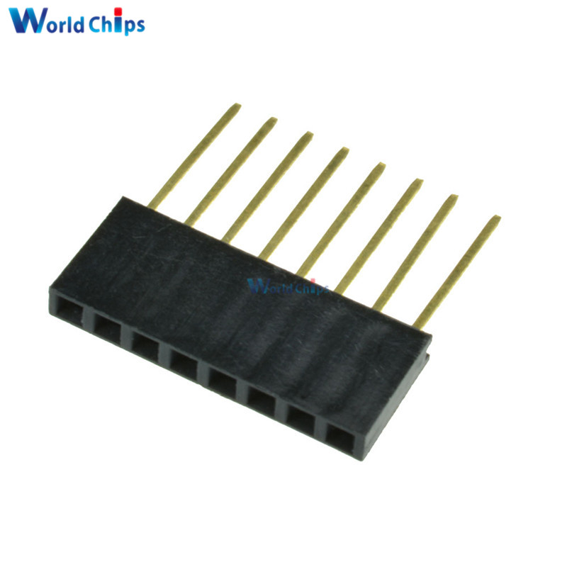 10PCS 2.54mm 2x3 6pin Double Row Female stackable Connecter Header for Arduino