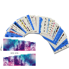 50 sheets Hot Sale Random Designs Water Transfer Nail Art Sticker Beauty Temporary Tattoos Decal Decorations JINJ233