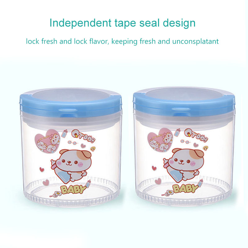 Portable Infant Newborn Milk Powder Container Baby Feeding Food Seal Pot Snacks Dry Fruits Cookies Storage Box M09