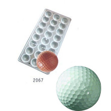Golf Ball sport sports Polycarbonate Chocolate Mould PC Mold Sugarcraft Suger Craft tools(China)