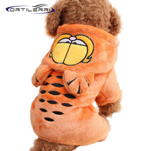 Ortilerri Fashion Garfield Pet Fall Winter Turned Loaded Four-legged Four Dimensions Dog Clothes Sweatshirt Pet Supplies 2016