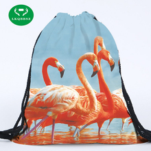 3D Printing Woman Drawstring Bag Storage bag Clothes backpack Women Cosmetic Book School bag toy storage bag(China)