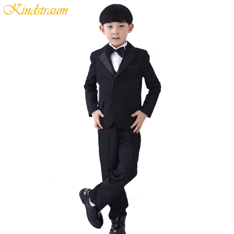 Kindstraum 6pcs Kids Boys Formal Suits for Wedding Cotton Solid Blazer+Vest+Shirt+Pant+Tie+Girdle Children Clothing Sets, MC738<br>