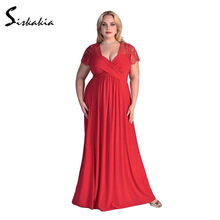 Big sizes Party Dress ukraine Ladies long Dress Elegant Fashion Summer Evening Dinner Floor length Dresses women 3XL 4XL 5XL 6XL