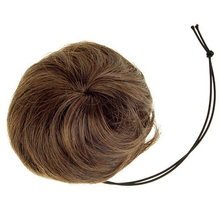 Woman Hairpiece Hair Bun Wig Topknot Wigs Extensions - Light Brown