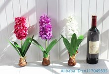 1 PCS Artificial Flower Hyacinth with Bulb Home Garden Decoration F367(China)