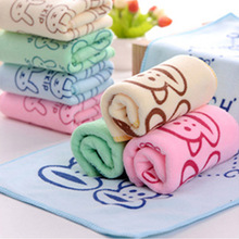 1pcs Microfiber Cleaning Comfortable Cartoon Towel Dry Baby Soft Absorbent Towel Small Towel Children Bath Beach Towel 50*25cm(China)
