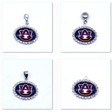 Pendant Charms Rhinestone NCAA Auburn Tigers Charms Football Sports Dangle Charms for Women Men Diy Jewelry Fashion 2017