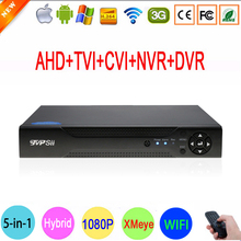 1080P Surveillance Camera XMeye Hi3521A 16 Channel 16CH 1080N 5 in 1 Coaxial Hybrid Wifi TVi CVI IP NVR AHD DVR FreeShipping